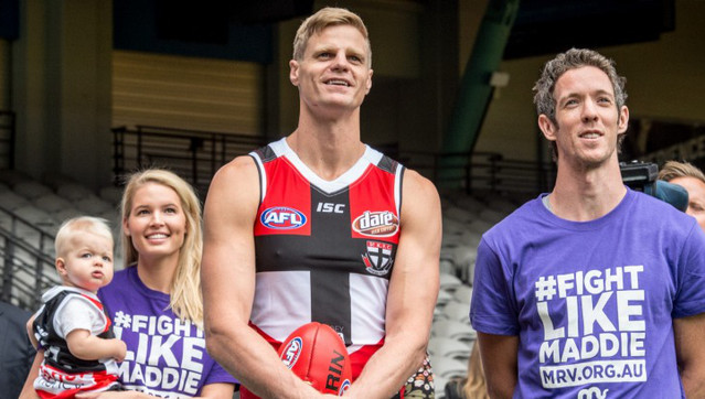 Riewoldt turns a milestone into a mission for Maddie