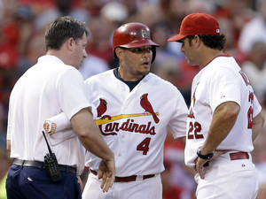 Yadier Molina, Chris Conroy, Mike Matheny