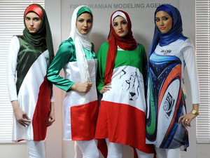 Iran 'bans fashion show organiser over flag designs'