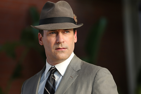 Jon Hamm as Don Draper in the 'Mad Men' season 7 premiere.