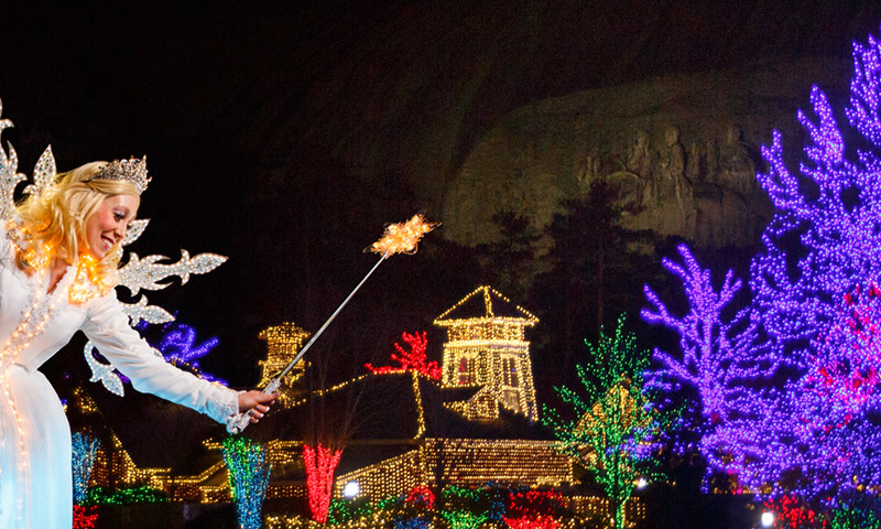 Stone Mountain Christmas is one big holiday festival.