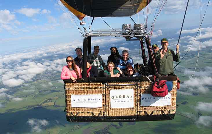 An accessible hot-air balloon ride with Global Ballooning Australia