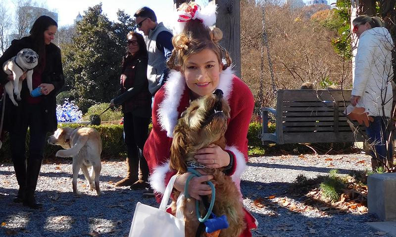 A parade and dogs in costumes. Can anything be more fun?  It happens at Atlanta Botanical Garden.