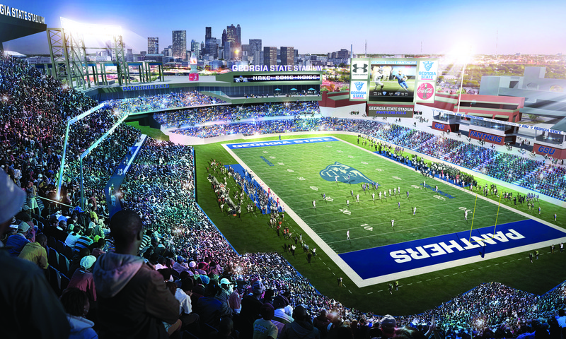 Georgia State University football enters its eighth season with a new stadium.