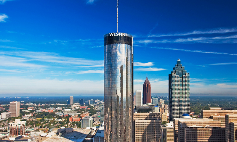 The iconic Westin Peachtree Plaza stands out among Atlanta hotel options.