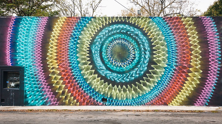 atlanta kaleidoscope mural hoxxoh