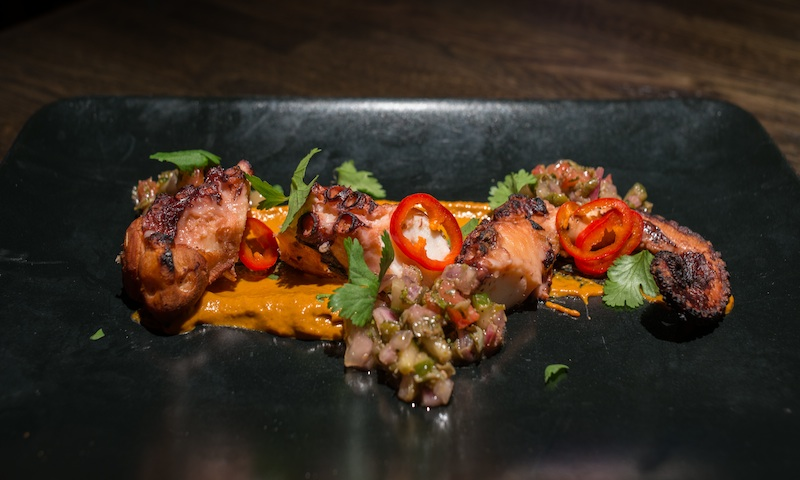Fine Fusion: Try the sous vide tandoori octopus at Amara