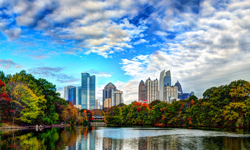 Piedmont Park is the perfect place to enjoy nature.
