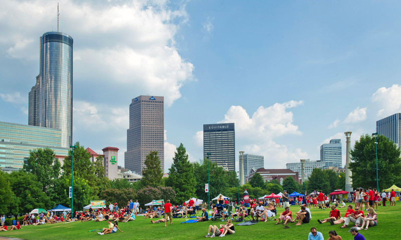 Stake out your spot and enjoy a picnic in the park. (James Duckworth, AtlantaPhotos.com)