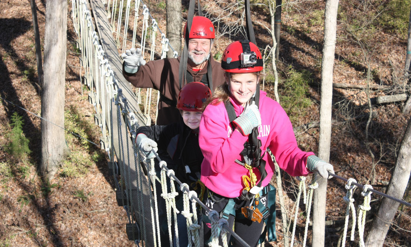 Take Dad out into nature with the North Georgia Canopy Tours where there are 12 zip lines, two sky bridges and lots of family fun.