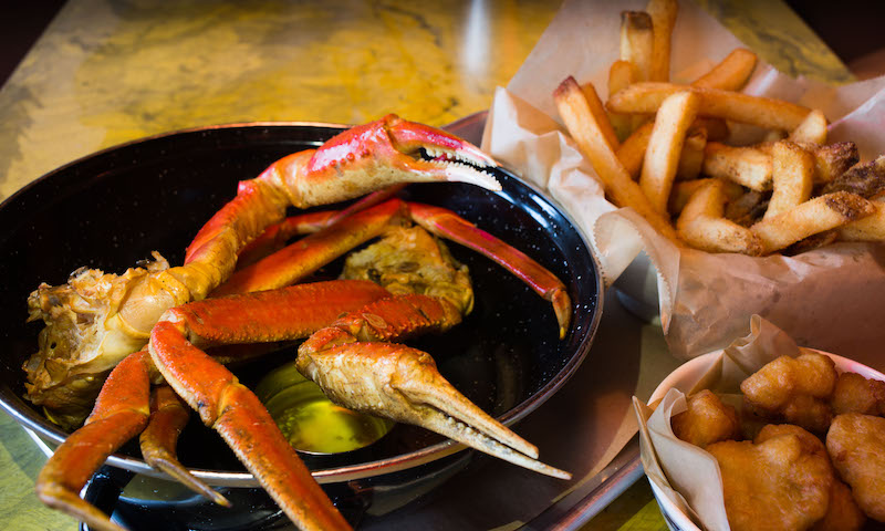 Best Restaurants For Lunch In Midtown Atlanta Smoked Crab Legs Are A Highlight At Bon Ton Save Room The Corn Nuggets