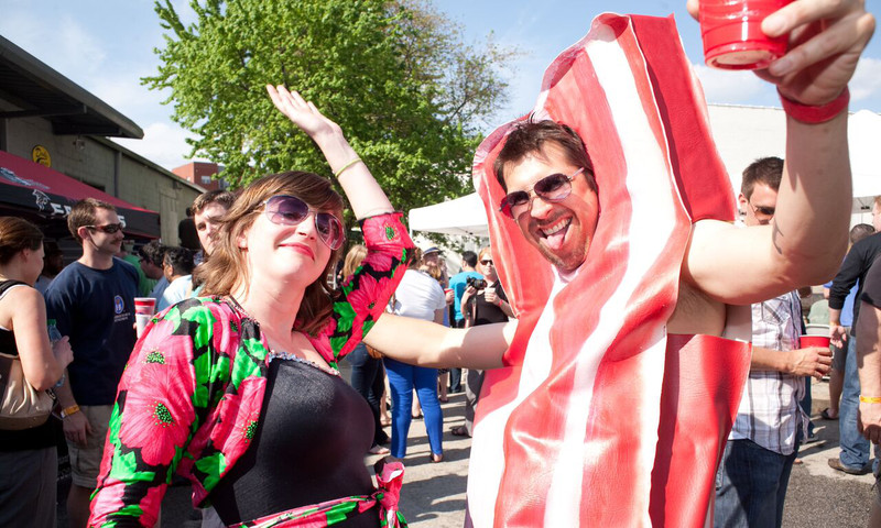 Support your love of all things bacon at the annual 16th annual Baconfest.