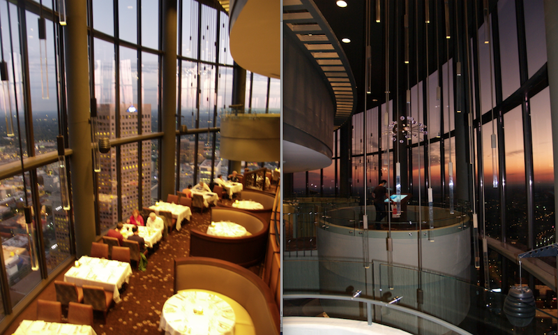 The Sun Dial offers one of the best views in Atlanta.