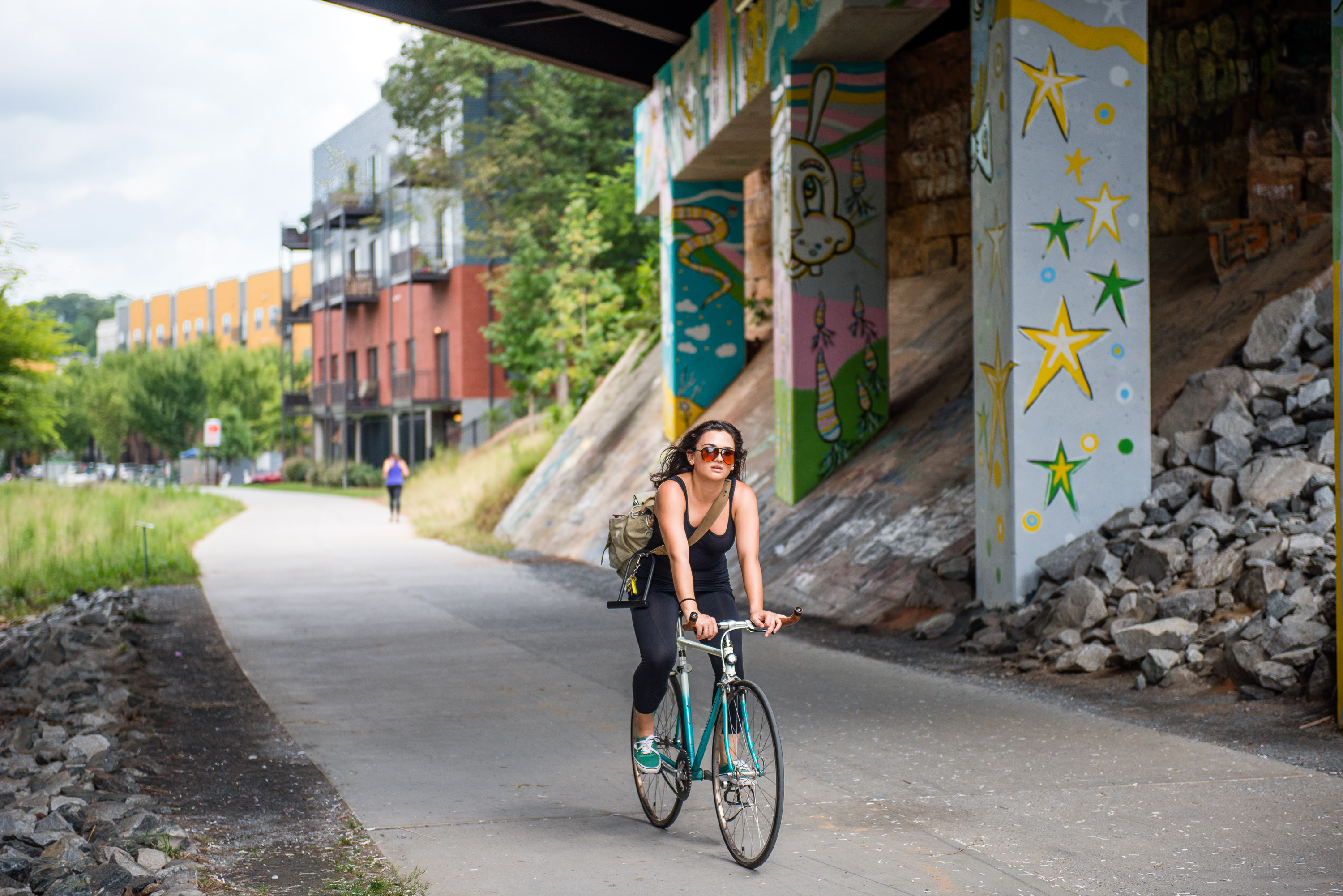 Atlanta-BeltLine -Biker-Tunnel