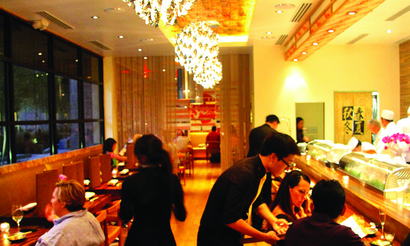 """MF Sushi's chef Chris """"Magic Fingers"""" Kinjo has returned with a reimagined restaurant."""