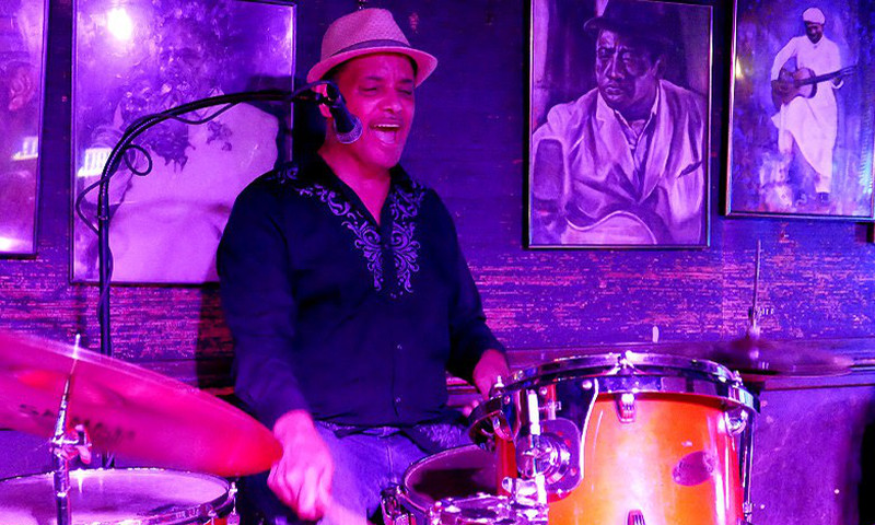Larry Griffith sets the beat at Northside Tavern where jazz and the blues reign supreme.