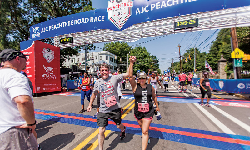 The Fourth of July in Atlanta starts with the Peachtree Road Race.