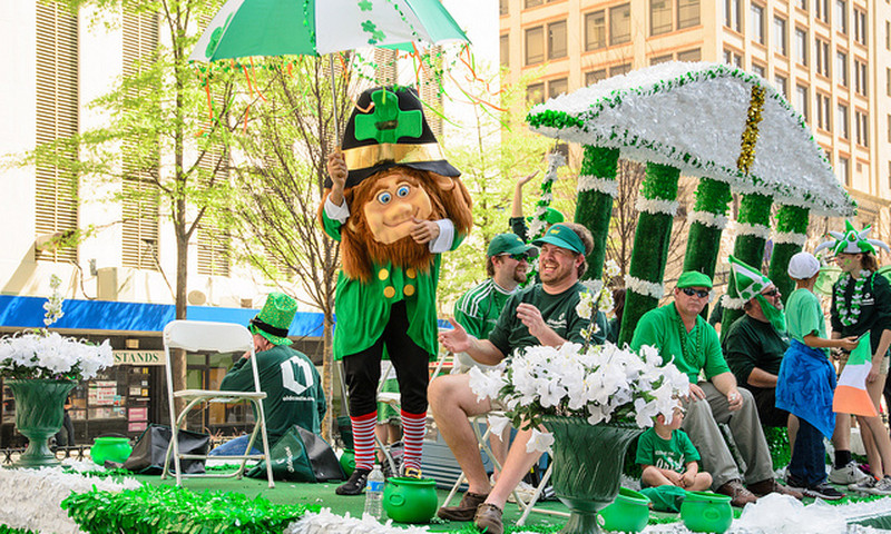 Atlanta shows its green at the annual St. Patrick's Day Parade down Peachtree Street.