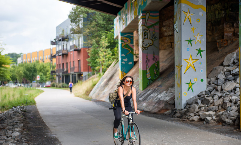 Get your bike on at the BeltLine trail. (James Duckworth, AtlantaPhotos.com)