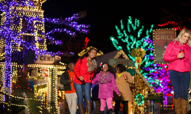 Run into the holiday spirit at Stone Mountain Park.