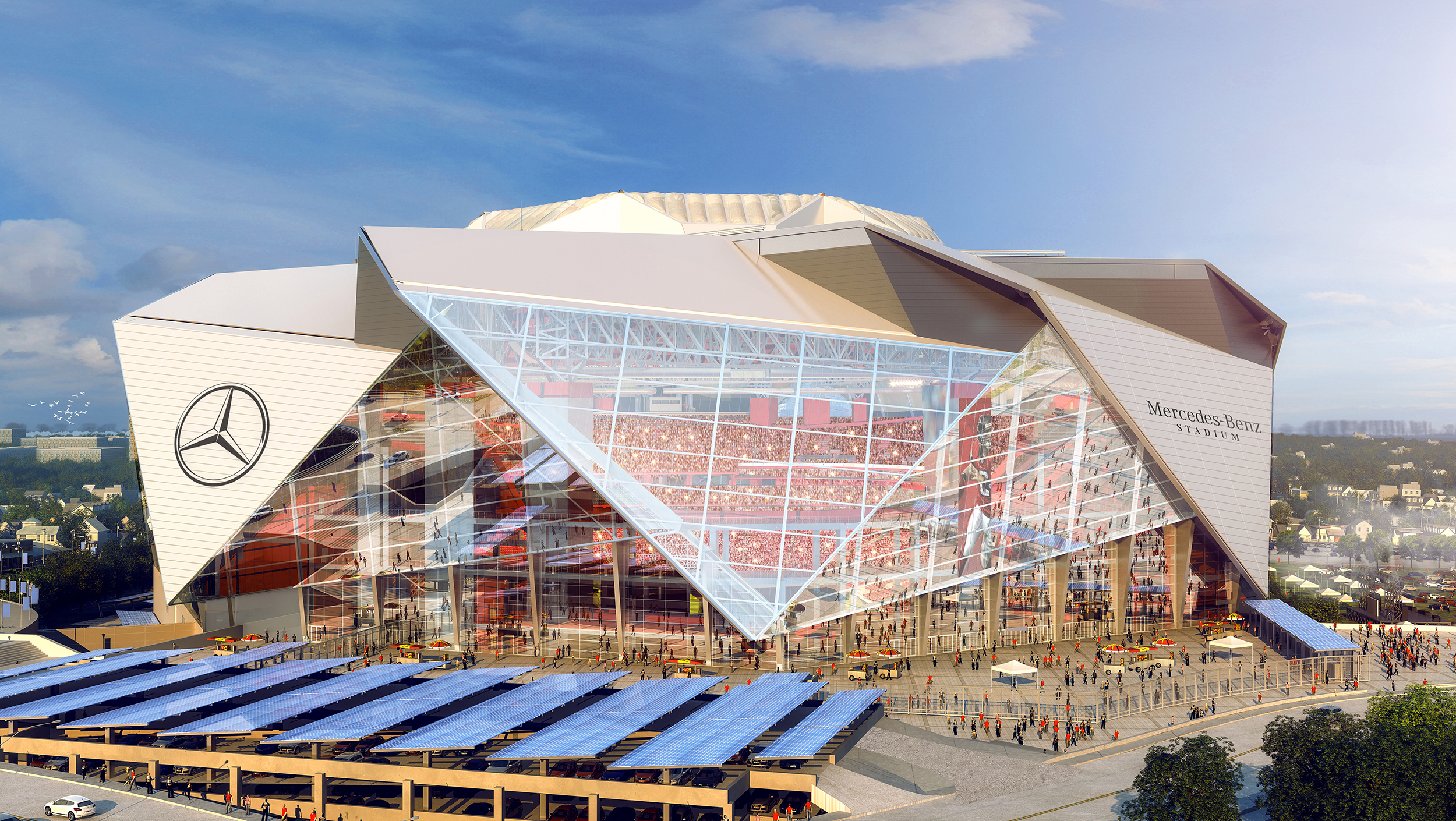 A bright future awaits georgia world congress center authority a retractable roof stadium will be home to super bowl liii gumiabroncs Images