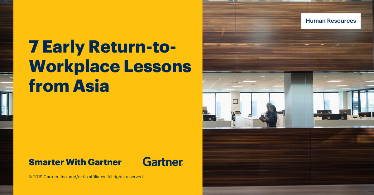 7 Early Return To Workplace Lessons From Asia