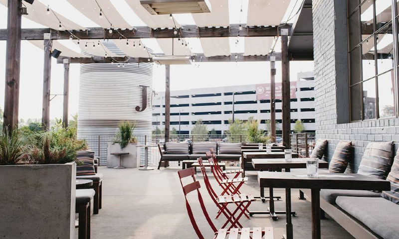 Patio dining is a great way to kick back.