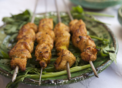 Grilled Marinated Chicken Brochettes with a Moroccan Twist
