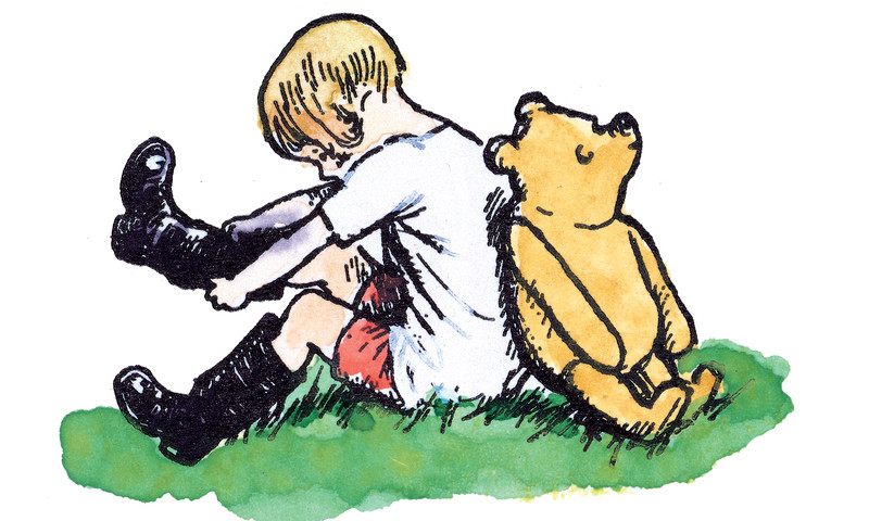 See Winnie the Pooh at the High Museum. (line block print hand colored by E.H. Shepard)