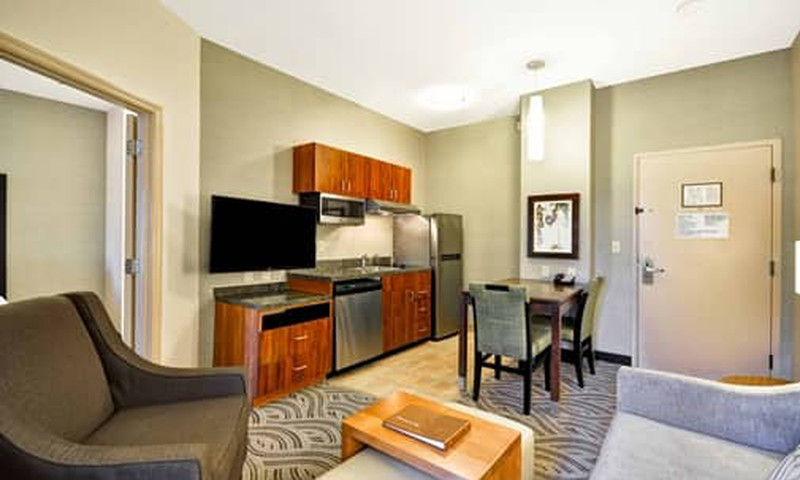 Homewood Suites offers full kitchens, living rooms and bedrooms.