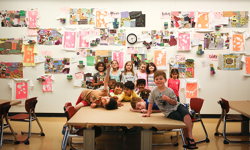 Kids love creating art at the High.