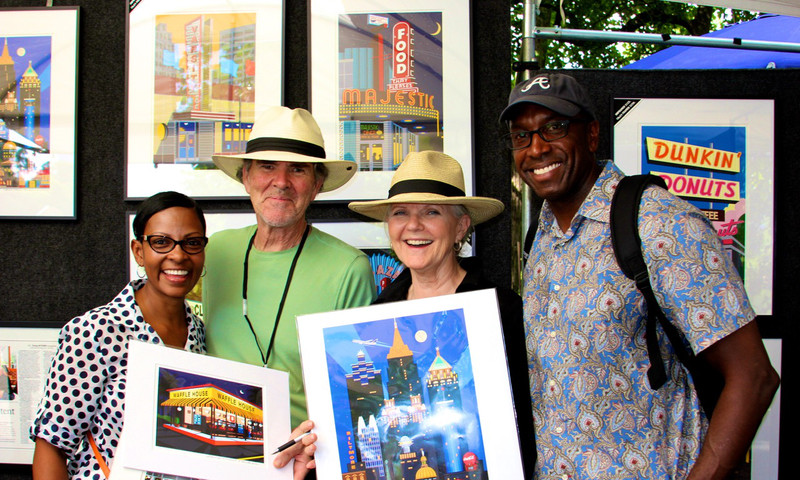 Buy some, uh, art at the Piedmont Park Arts Festival.