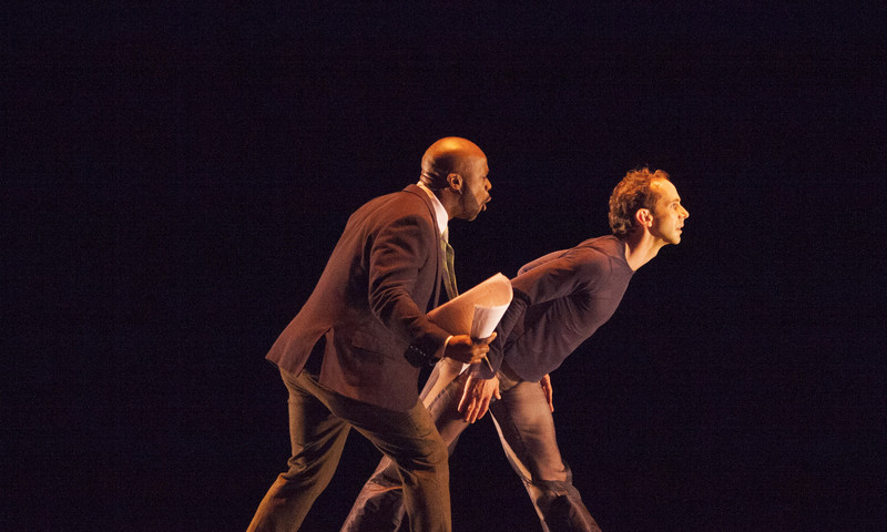 """Atlanta Braves in Atlanta Ballet performance? You bet! Here's a scene from """"Home in 7."""" (photo Charlie McCullers)"""