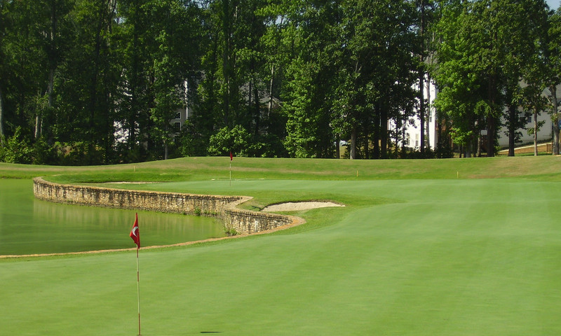 Ashton Woods Golf Course, about 35 miles outside of Atlanta, is a challenging course.