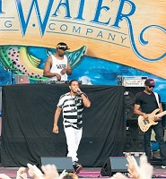 ludacris on stage at atlanta sweetwater music festival