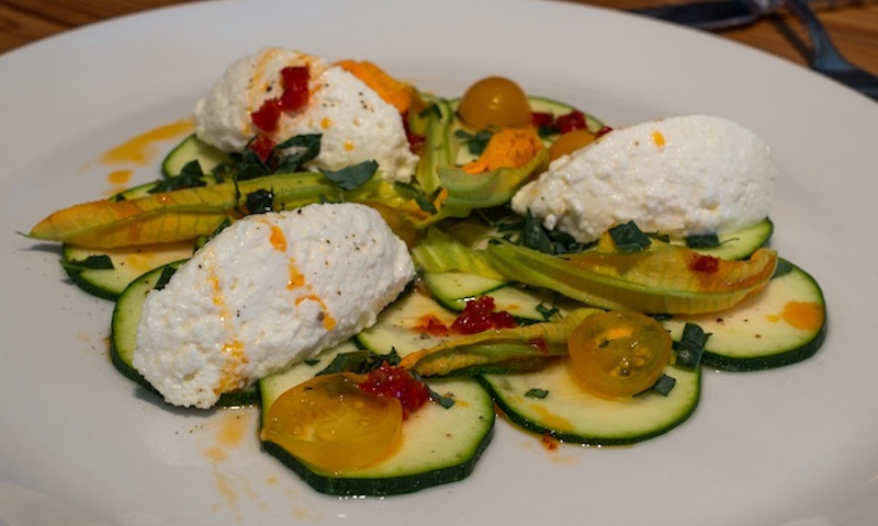 Squash blossoms are a must when you visit Storico Fresco. (Malika Bowling)