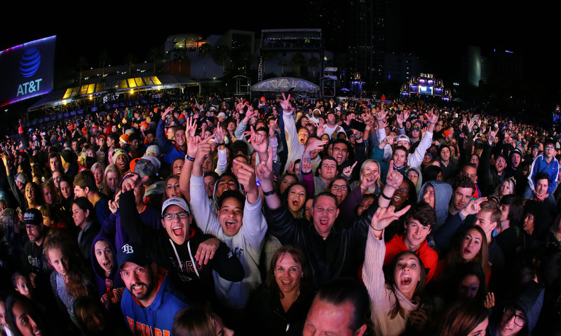 The AT&T Playoff Playlist at Centennial Olympic Park features an amazing lineup of bands..