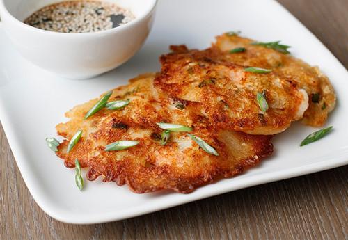 Shrimp & Kimchi Korean Pancakes – Made Mini (And Easy!)