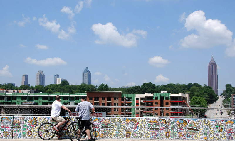 The BeltLine Trail is a great way to explore the city. (Blane Bachelor)