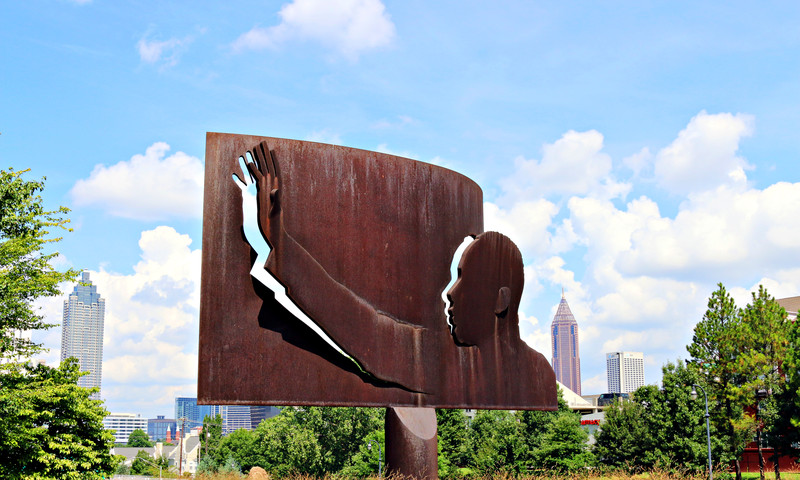 """Homage to King"" on John Lewis Freedom Parkway is a source of inspiration. (Benjamin Pete, @be_atlanta)"
