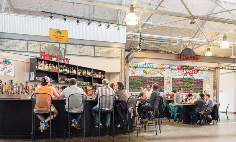 The food hall at Krog Street Market is home to some great restaurants.