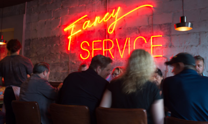 Neon signs and killer cocktails await at Bon Ton.
