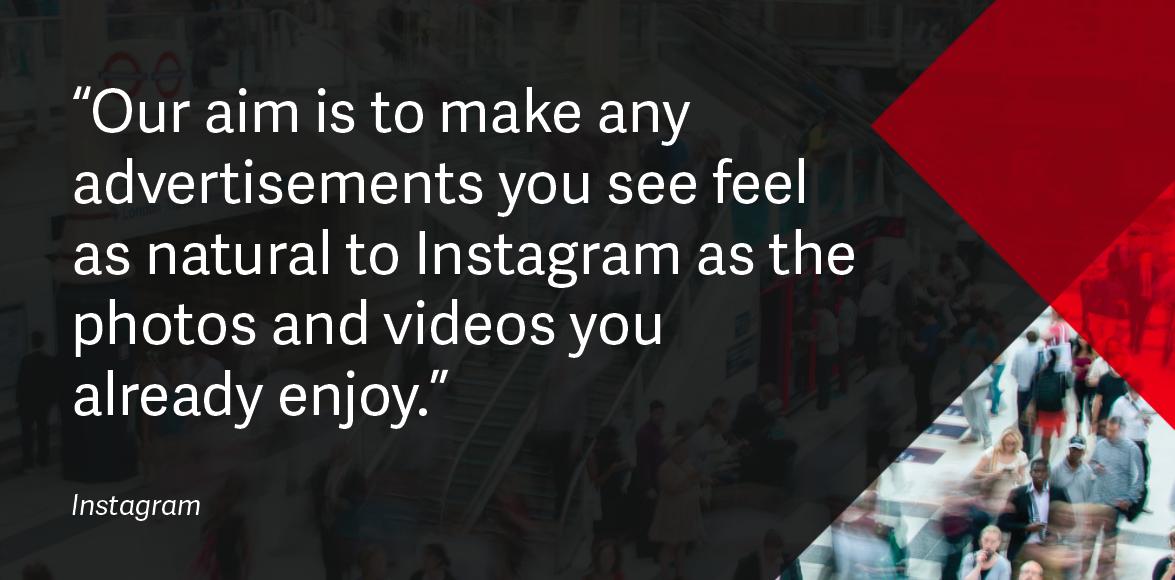 Instagram advertising quote