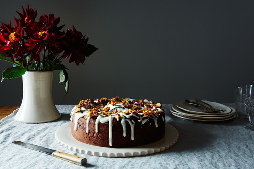 This Cake is a Giant Chocolate Cinnamon Roll
