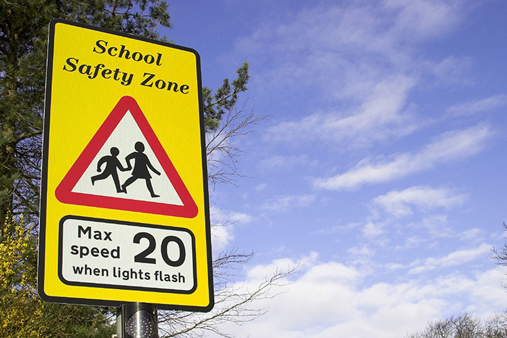 School safety zone sign