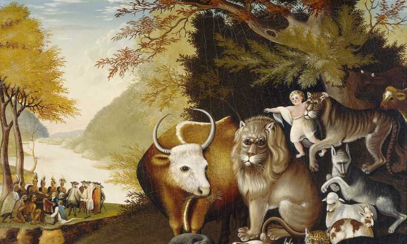 "View ""Peaceable Kingdom"" by Edward Hicks at the new High exhibit."