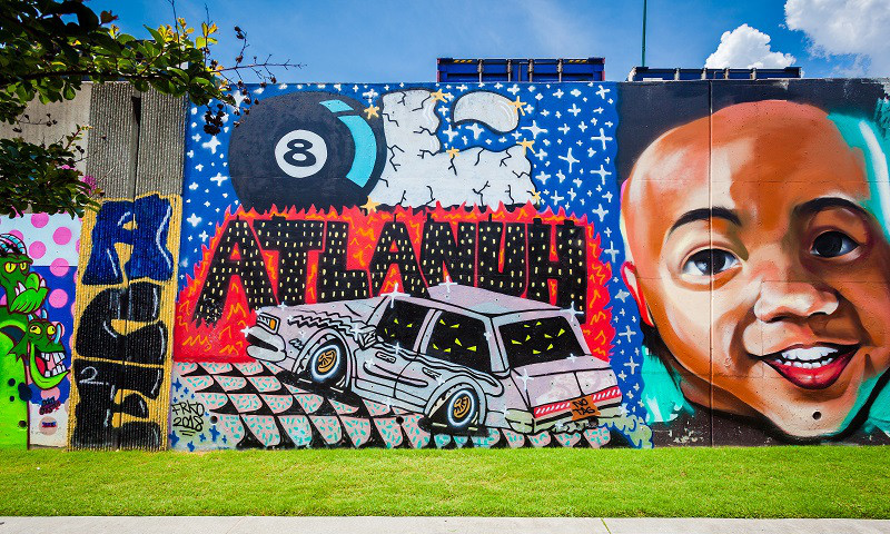 Forward Warrior art murals can be seen throughout various Atlanta neigborhoods.  Photo credit: Chris Watkins