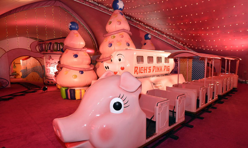 Macy's Priscilla the Pink Pig returns for her 56th holiday appearance at Lenox Square.