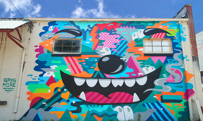 The Outer Space Project develops vibrant murals with contagious energy.