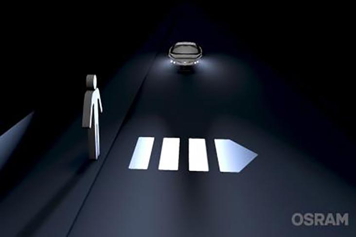 Illustration of adaptable headlights
